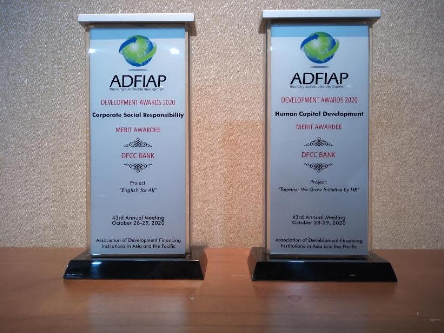 DFCC බැංකුව 2020 ADFIAP සම්මාන උළෙලේදී සම්මාන දෙකකින් පිදුම් ලබයි